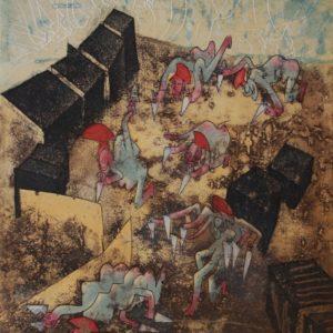 Grabados-de-Roberto-Matta-Serie-Hommere-Loeil-de-la-Memoire
