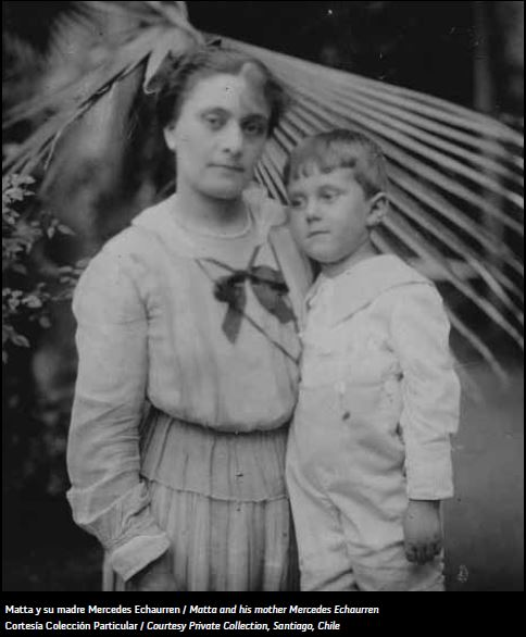 Roberto Matta y su madre