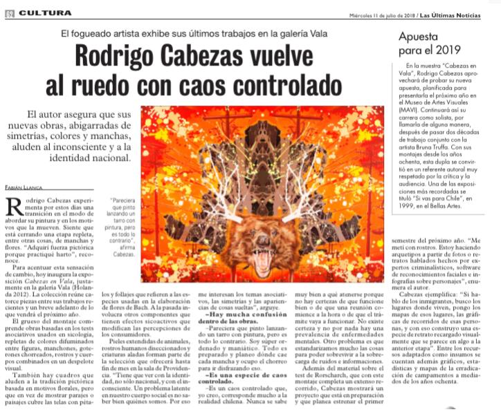 Rodrigo Cabezas en Galería VALA