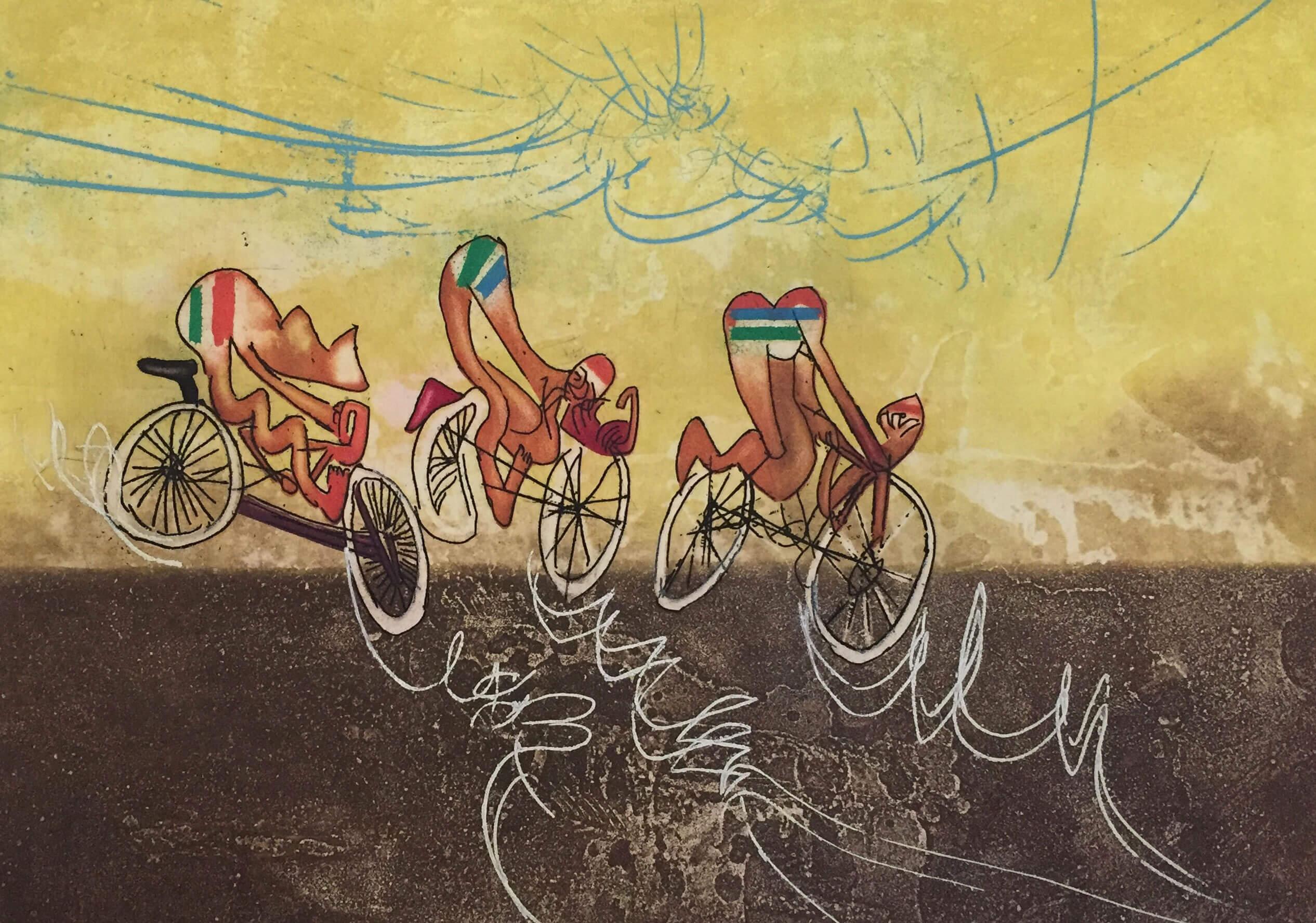 LES CYCLISTES - LES TRANSESPORTS - Roberto Matta